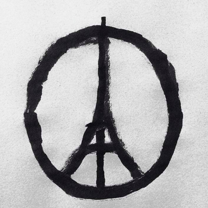 Symbole de paix après les attentats de Paris novembre 2015